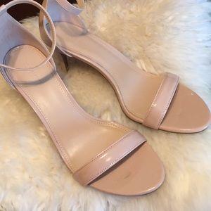 NWOT Nude Heeled Sandal